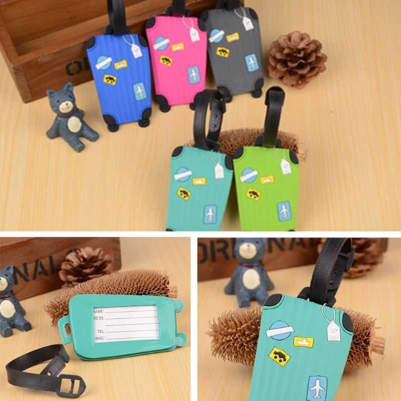 THINKTHENDO New Hot Travel Luggage Tags Labels Strap Name Address Tel Suitcase Bag Baggage Secure
