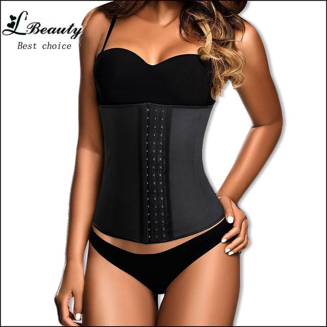 Steel Boned Corset 100% Latex Waist Trainer For Women Latex Waist Cincher Hot Body Shaper Women Shapewear