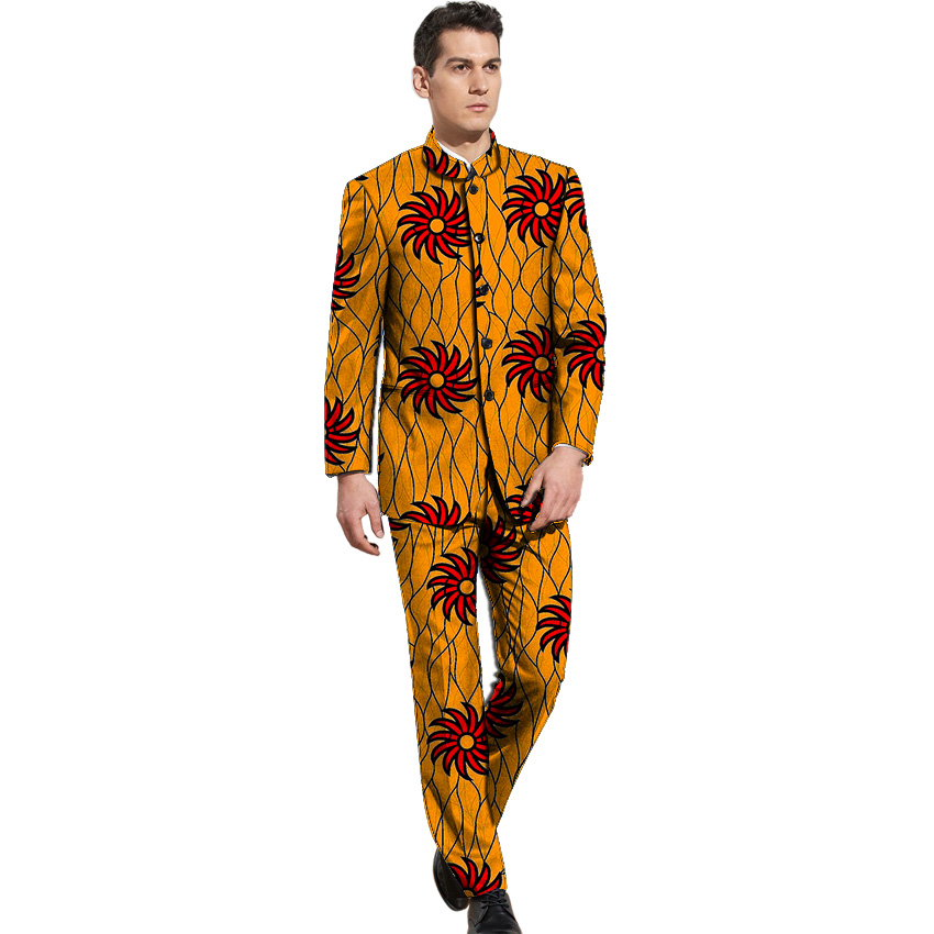 3 Stand Personnaliser Dashiki Ankara 8 5 De Avec Veste Costumes Mode Hommes 4 Col Pantalon Blazers 6 Formelle Africaine 9 Pantalons 2 7 Ensemble Imprimé Costume 1 10 f6nwqIR