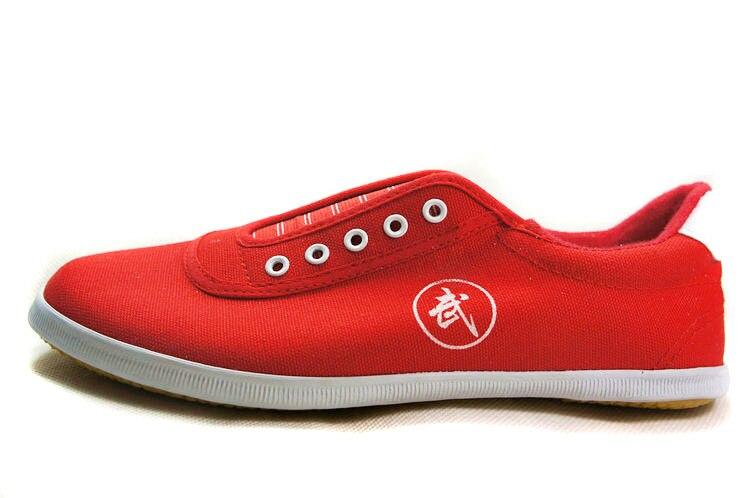 Высокое качество тай-чи Обувь ребенка в школу белые спортивные Обувь Боевые искусства Для мужчин Для женщин Тайцзи Wu Шу обуви кунг-фу 5 видов цветов - Цвет: RED 2