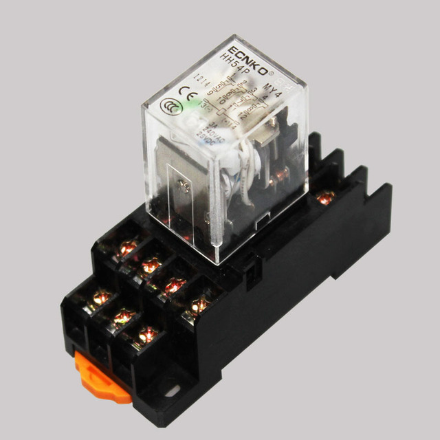 10 Sets Lot Coil Power Relay My4nj 220v Ac Miniature Relay
