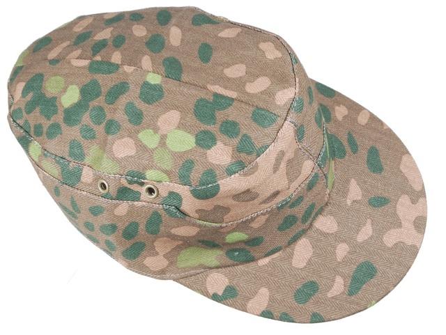 WW2 GERMAN ELITE DOT44 CAMO FIELD CAP HAT SIZE XL-3333