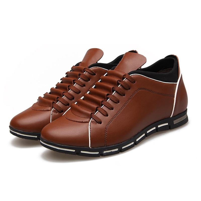 Plus 602black Taille La Cuir 602brown Chaussures Mode Casual Hommes Mâle Automne Pu En Nouveau Hiver 602red Appartements Laçage OS6aqq7w