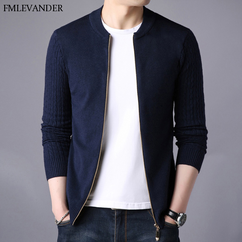 Vetement Homme 2018 Cardigans Patchwork V-neck Sweater Cardigan For Man
