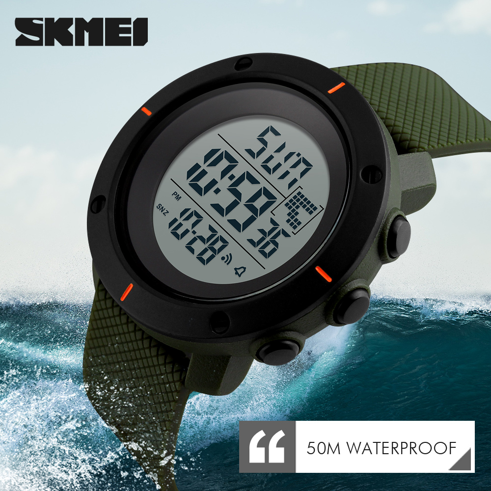 <font><b>SKMEI</b></font> Brand Luxury Mens Sports Watches Fashion Casual Men LED Digital Watch Outdoor Military Waterproof Electronics Wristwatches image