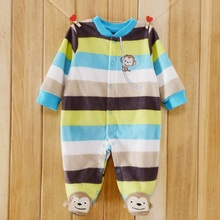 2019 One Pieces Spring Autumn Polar Fleece Baby Boy Girl Clothes New Brand Newborn Romper Pajamas