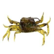 Fishing tackle Soft lure Artificial Crab Hook isca artificial soft leurre souple crankbait metal jig minnow popper peche #8