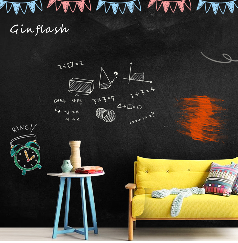 Creative 45x200cm Chalk Board Blackboard Vinyl Draw Chalkboard 45*200CM Wall Sticker Office Supplies