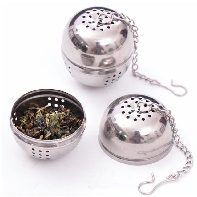 Mới Thiết Yếu Thép Không Gỉ Bóng Tea Infuser Lưới Lọc Lọc w/hook Loose Tea Leaf Gia Vị Nhà Phụ Kiện Nhà Bếp B045