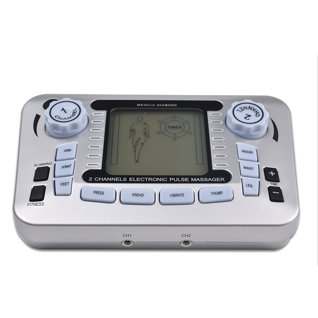 Electrical Muscle Stimulator Relax Muscle Massage Machine Pulse Tens Acupuncture Therapy Massager Slimming Fat Burner +10 Pads 4