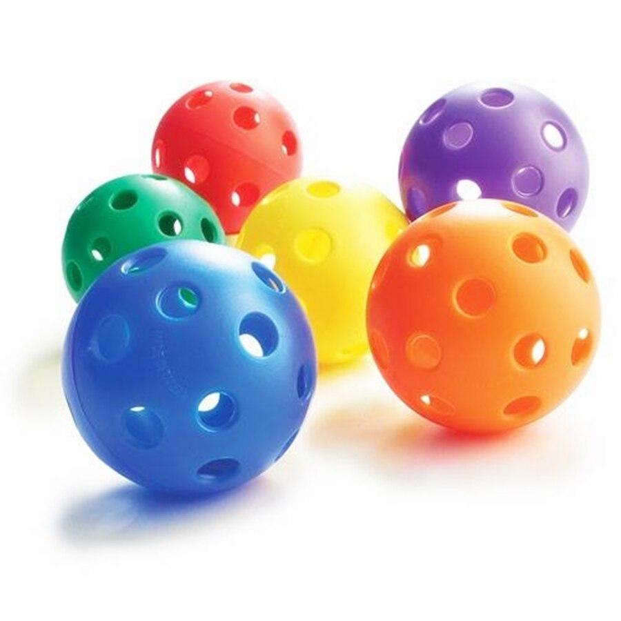 90mm Plastic Airflow Wiffle Ball Hollow Indoor Practice Ball Baseball