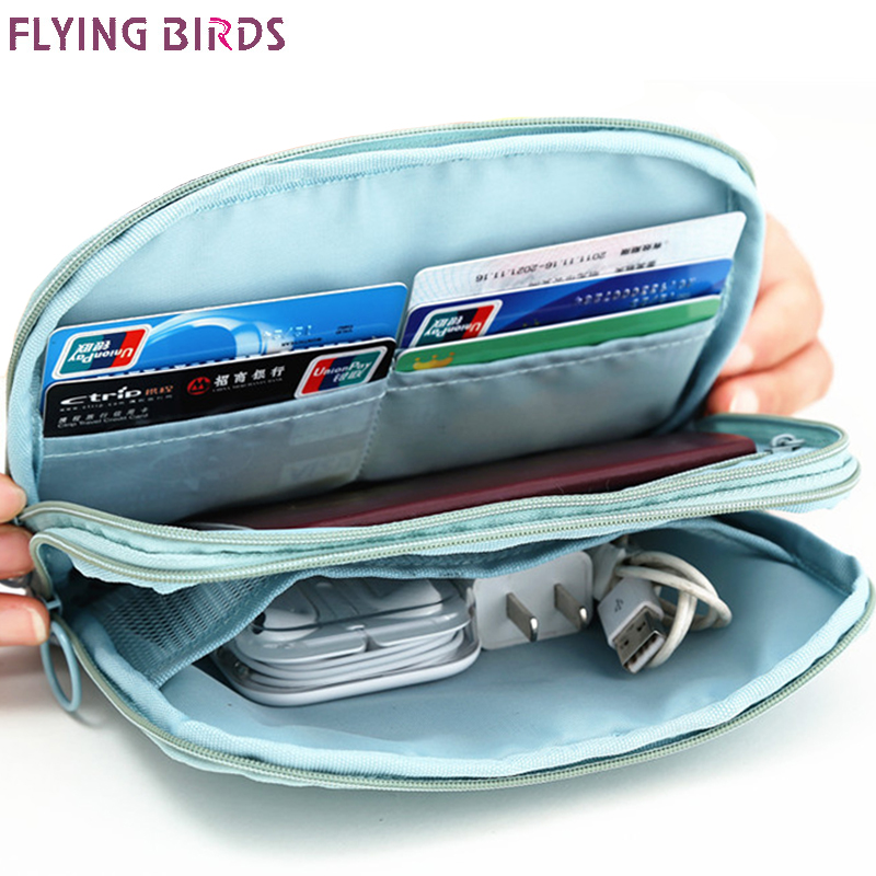 FLYING BIRDS Storage bag cards holder Multi-functional double-decker documents passport purse travel multi-purpose women bag monopoly multifunctional polyethylene travel passport cards storage bag deep pink page 3