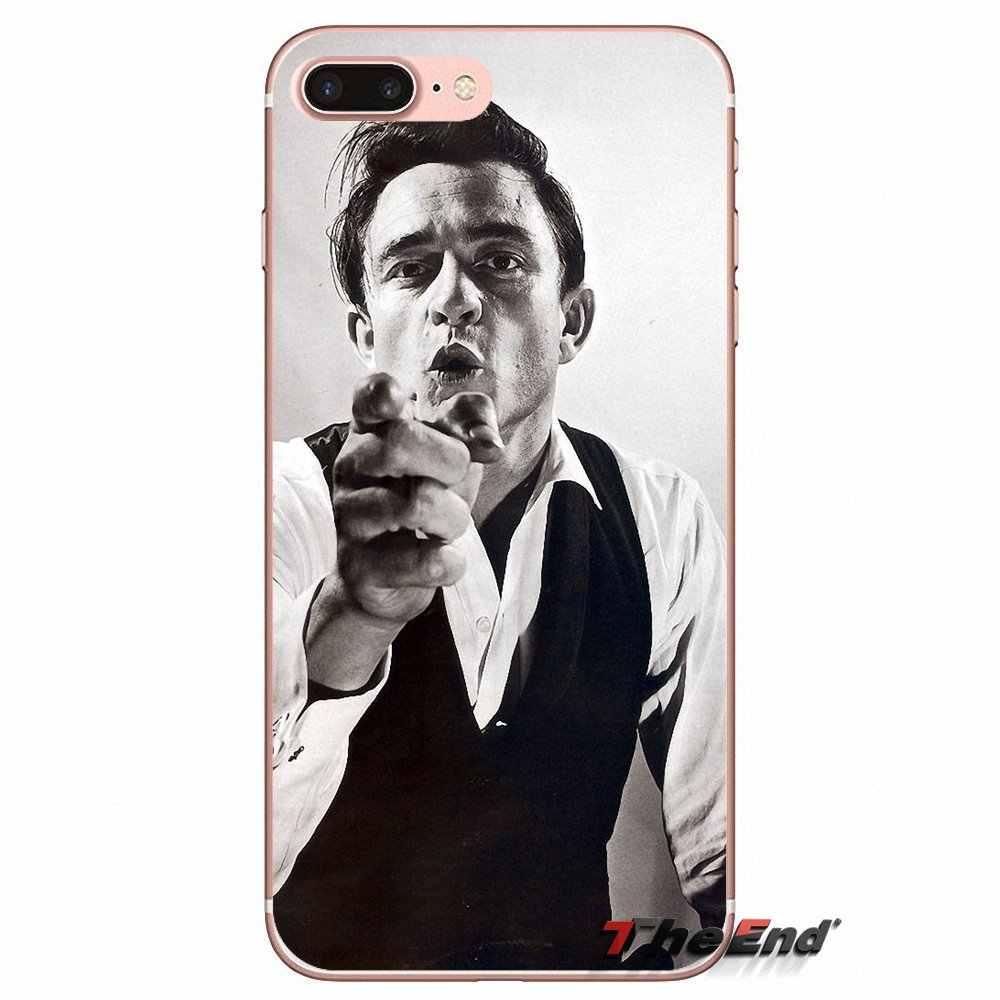 Pour iPhone X 4 4 S 5 5 S 5C SE 6 6 S 7 8 Plus Samsung Galaxy J1 J3 J5 J7 A3 A5 2016 2017 Johnny Hallyday Le Doigt Chanteur Rock Cas