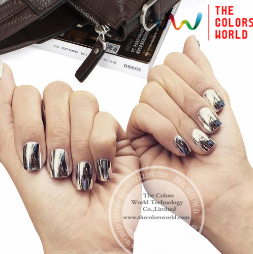 Tcwb175 Silver Color Magic Mirror Effect Pigment Powder Or Nail Art Gel Polish Other Diy Decoration In Glitter From Beauty Health On