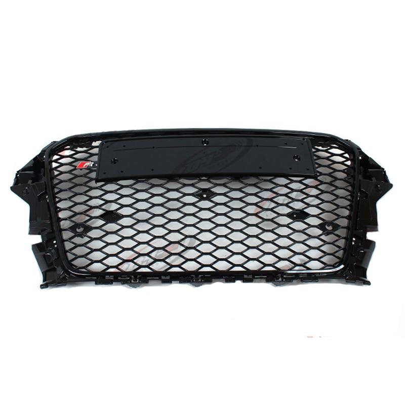 RS3 Style black frame chrome emblem black Front Bumper Grill Grille for audi A3 2014~2016