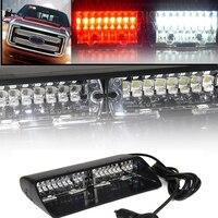 Czerwony Biały 16 LED Awaryjne Hazard Warning Strobe Light LED O Wysokiej Intensywności ForCar SUV Truck Wnętrza Szyby Z Przyssawkami