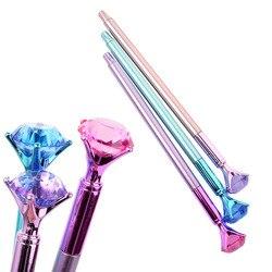 Kawaii Ballpoint Pen Big Gem Metal Ball Pen With Large Diamond Magical Pen Fashion School Office Supplies Students Gift Awards