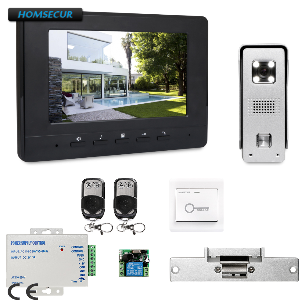 все цены на HOMSECUR 7inch Wired Video Door Entry Phone Call System with Intra-monitor Audio Intercom XC002+XM707-B онлайн