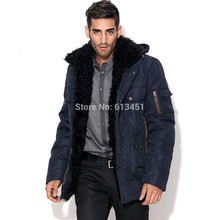 Winter Men's Clothing Business Casual Thickening Outerwear Medium-long Fashion 3M Cotton-padded Jacket
