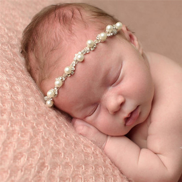 cc6c0bd6e6a PARRY baby shoes drop ship headband Girl PC Baby Kids Crystal Pearl Rhinestone  Headbands Phtography Props