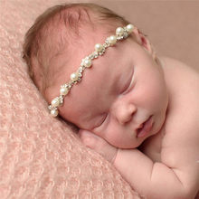 PARRY baby shoes headband Girl PC Baby Kids Crystal Pearl Rhinestone Headbands Phtography Props may18 p50 scrunchies(China)