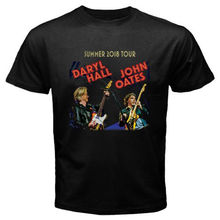 New Hall and Oates Summer Tour 2018 Men's Black T-Shirt Size S to 3XL Fashion Print  T shirt Plus Size