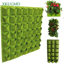Dropshipping Garden Pockets Vertical Planter Wall-mounted Gardening Flower Hanging Felt Planting Bags Indoor Growing Pot