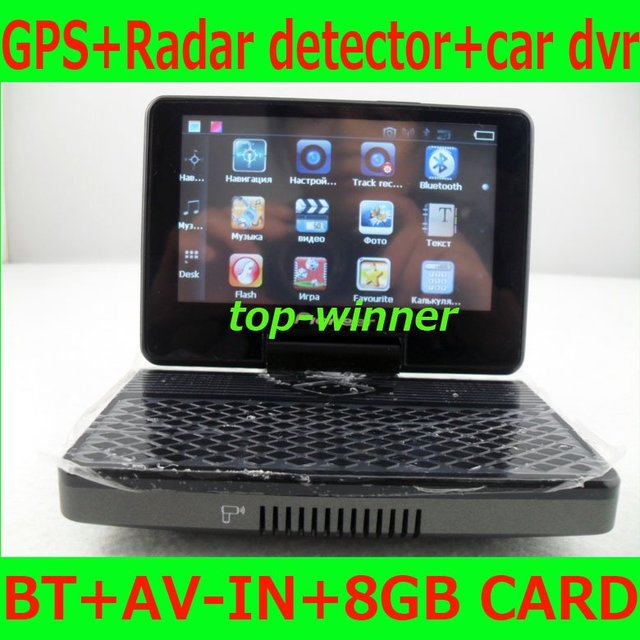 100% hottest  super car radar detector with GPS+CAR DVR, Support Bluetooth,AV-in for Russian Market+Free shpping!