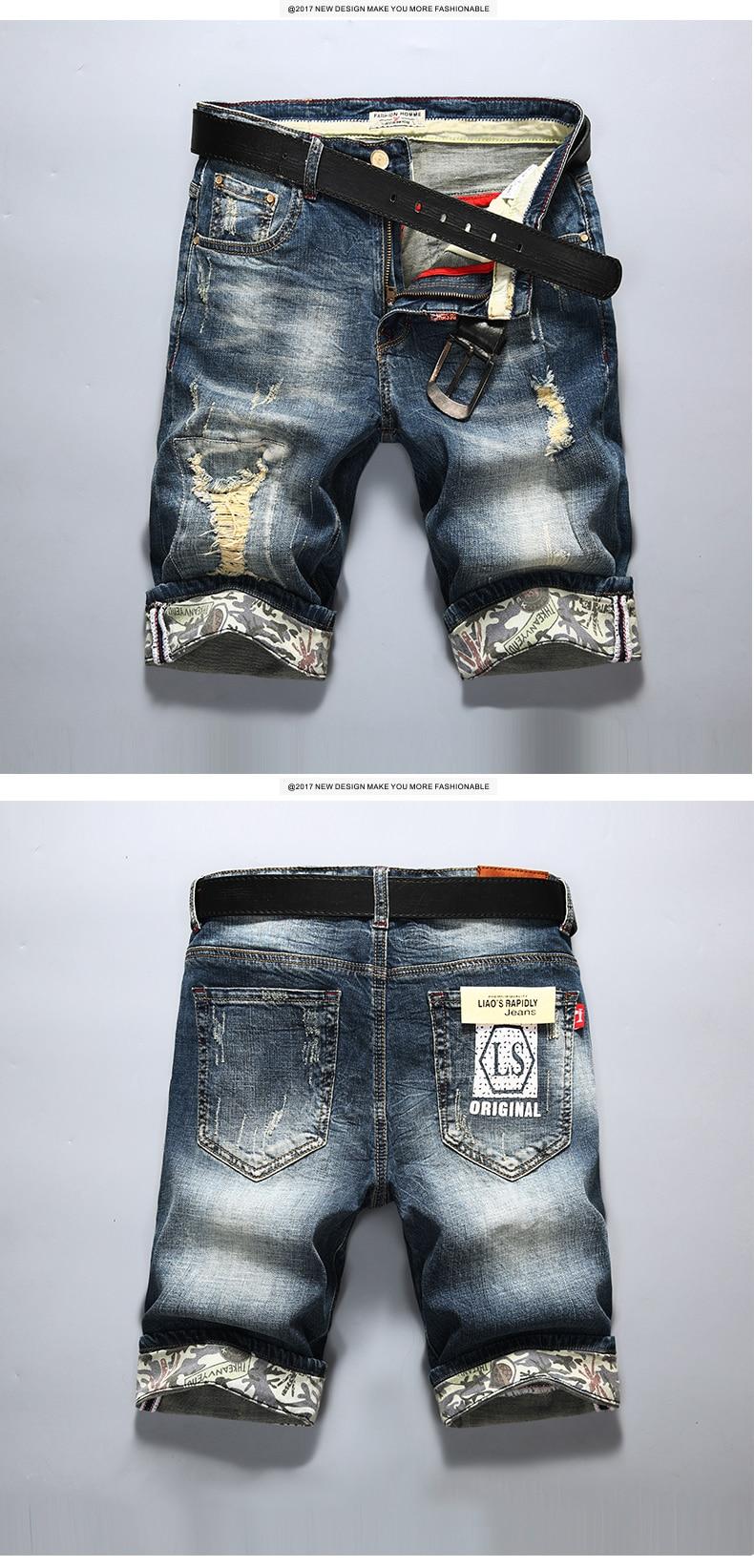 HTB15XoLQVXXXXXwXpXXq6xXFXXXK - AIRGRACIAS New Fashion Mens Ripped Short Jeans Brand Clothing Bermuda Summer 98% Cotton Shorts Breathable Denim Shorts Male
