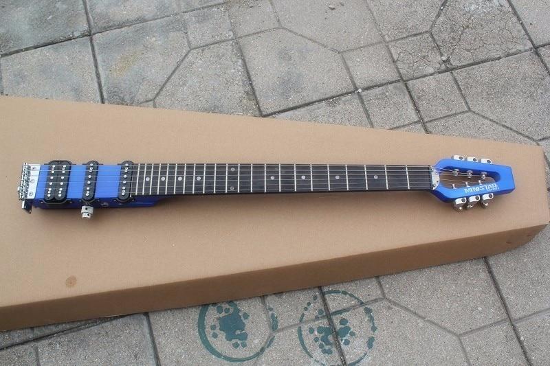 Electric-Guitar Headphones SSH STAR Travel Blue Rocker Pickups Frets-Offer Customized