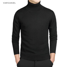 Varsanol Casual Turtleneck Sweater Men Pullovers Autumn Fashion Style Sweater Solid Slim Fit Knitted sweaters Full Sleeve Coats