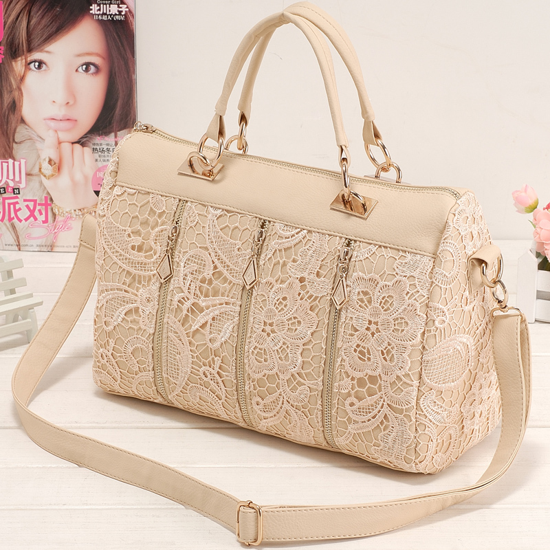 New 2014 spring female bags fashion vintage lace bag shoulder bag handbag women messenger bag ,free shipping