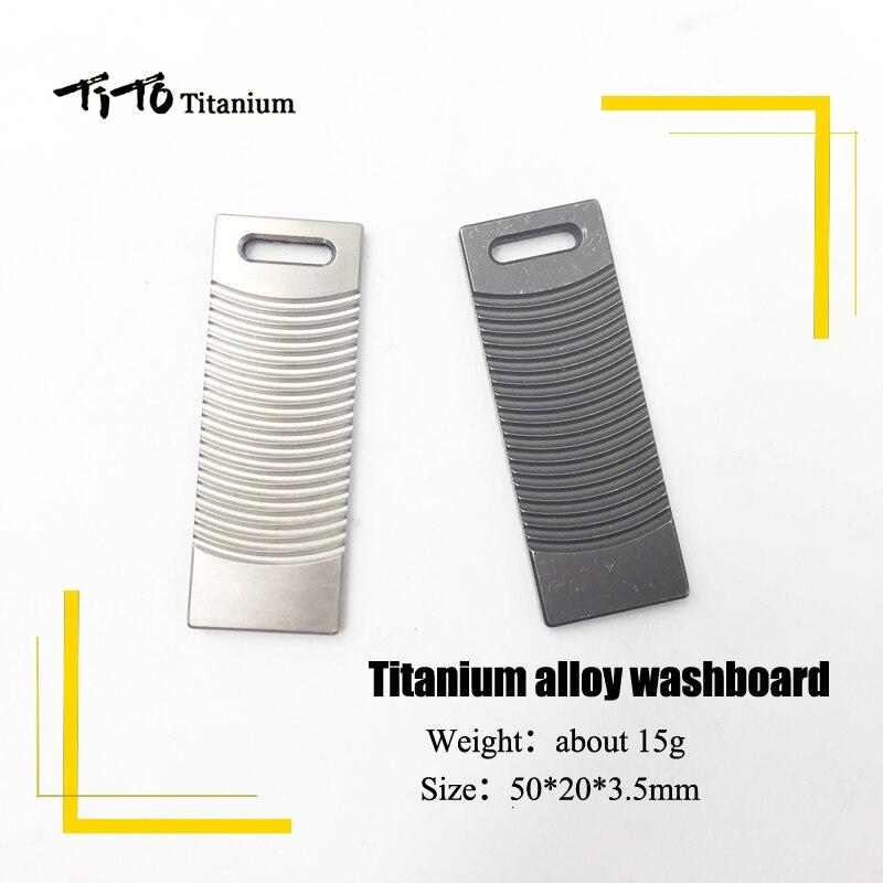 TiTo EDC alliage de titane washboard forme poche limite mouvement de la main Multi outils gyroscope non du bout des doigts