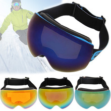 цена на Triclicks Double Anti-Fog Ski Goggles big spherical lens UV Protective winter sports motocross Snowboard Goggles Skiing Eyewear
