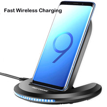 10W quick Qi Wireless Charger pad for iPhone X XS 8 Plus Samsung S9 note9 huawei mate20 pro Phone Fast Charging Stand