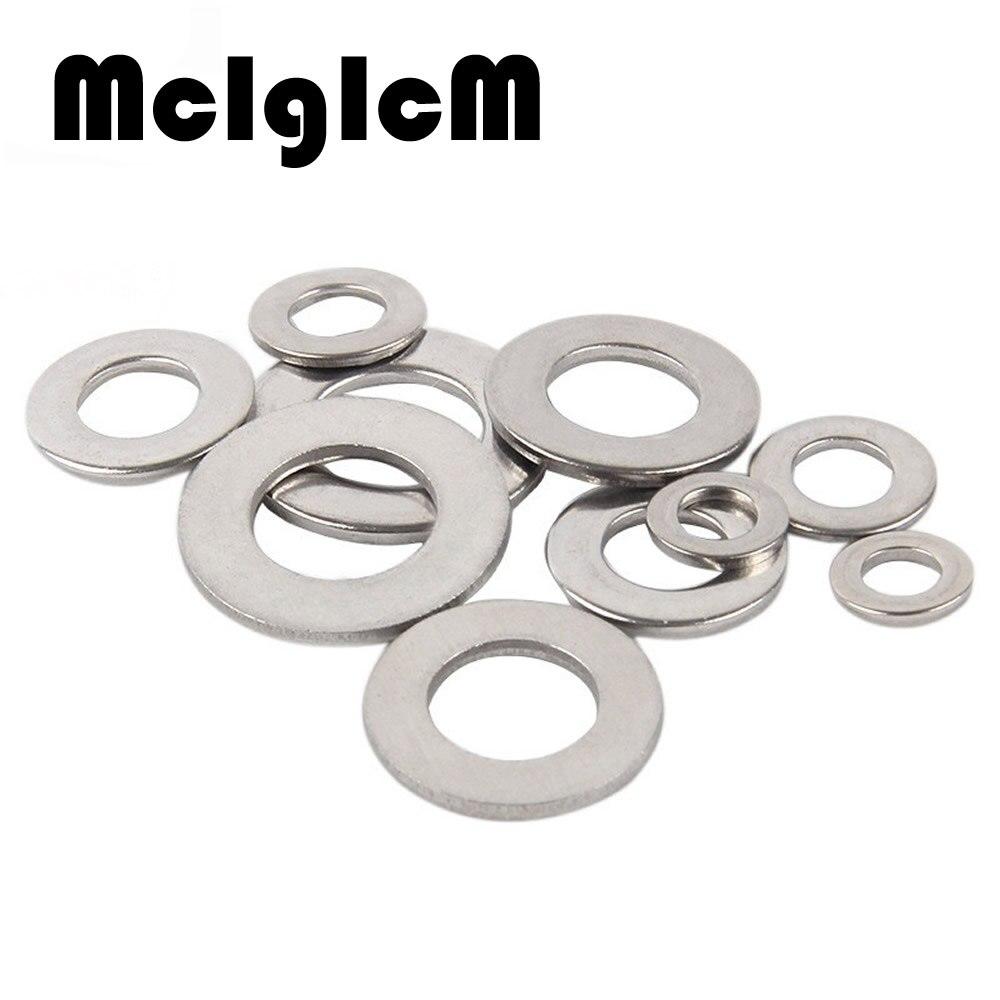 McIgIcM 100pcs DIN125 Washer M1.6 M2 M2.5 M3 M4 M5 M6 M8 304 Stainless Steel Flat Machine Washer ISO7089 Plain Washer 500pcs set din125 iso7089 m2 m2 5 m3 m4 m5 m6 m8 meson pad sheet metal collar brass flat washer hw049
