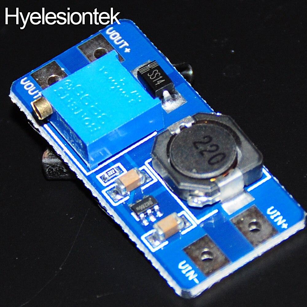 MT3608 постоянного тока, активизировать Boost повышающего преобразователя Booster DC-DC Питание модуль адаптера Выход 2A 28 В Step Up Мощность доска MT3608