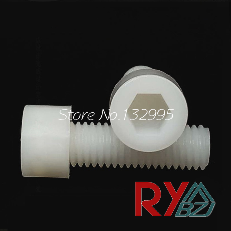<font><b>Nylon</b></font> Hex Socket Head Cap <font><b>Screw</b></font> PA66 M3 M4 M5 M6 M8 <font><b>M10</b></font> M12 White color DIN912 image