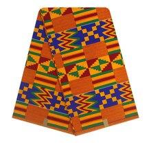 New Kwanzaa Design ankara African Kente Cloth, Fashion Print Wax Fabric For Skrit/head wrap YBGHL-188