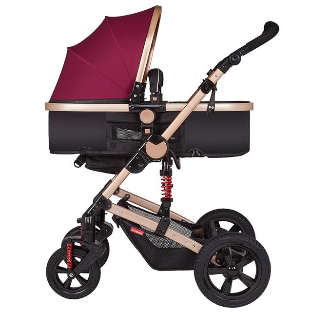 Choque carrinho de bebê luz carrinho de criança dobrável carrinho de mão criança de bebê verão