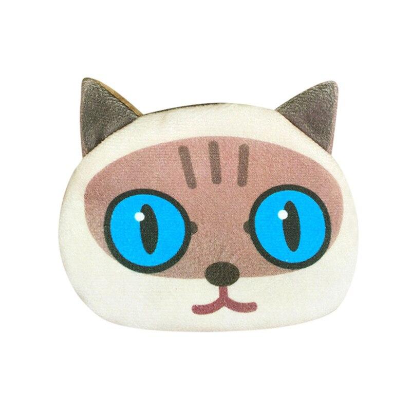 2018 Maison Fabre Fashion Women Cute Print Cat Face Girl Plush Coin Purse Change Purse Bag Wallet Versatile #9 Coin Purses & Holders