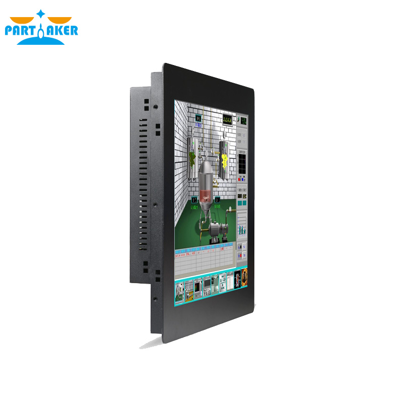 Industrial Touch Panel PC With 17 Inch Resistive Touch Screen All In One PC Intel Core I7 3537U All In One PC 4G RAM 64G SSD