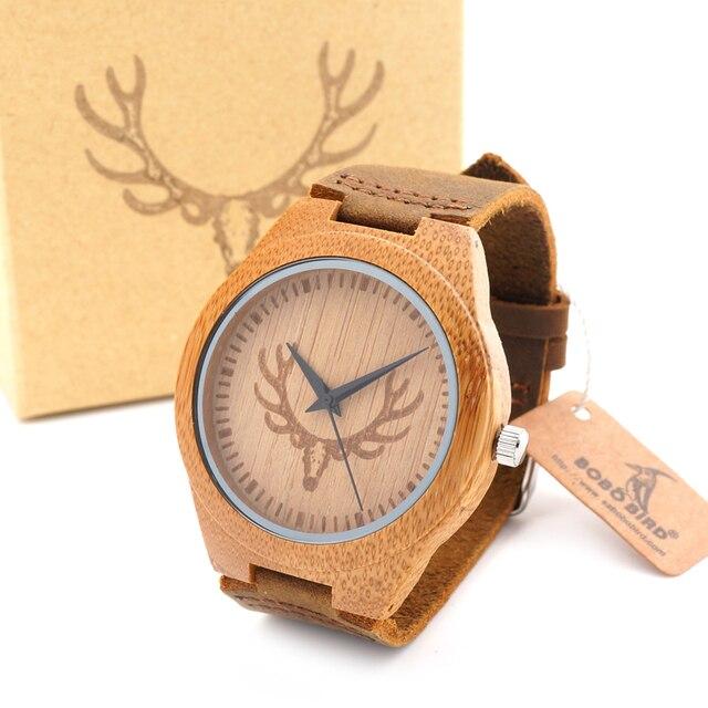 Zegarek drewniany unisex Bobobird 3 wzory