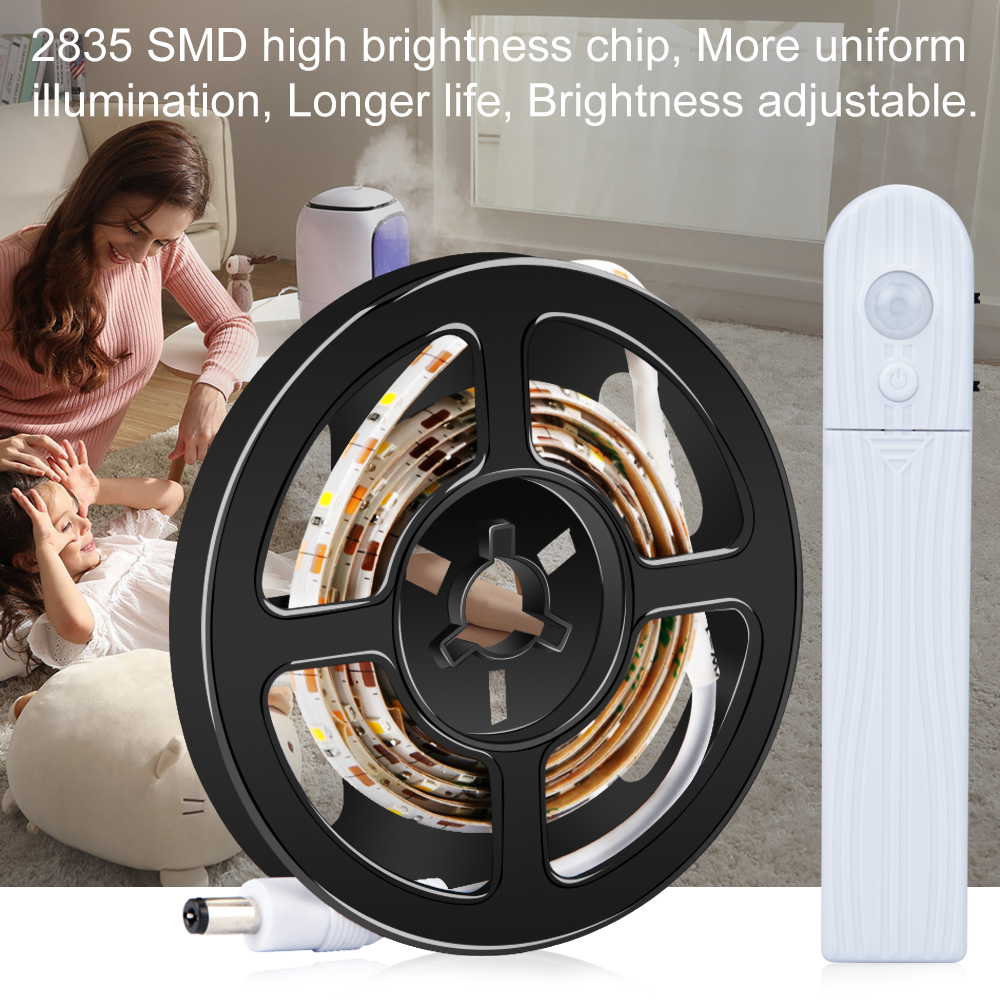 Smart LED Wall Lamp Motion Sensor Strip Waterproof Night Light DC 5V PIR Cabinet Tape For Stairs Wardrobe