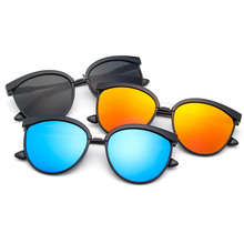 TR90 Retro Vintage Classic Round Ultralight Polarized Sunglasses Custom Made Myopia Minus Prescription Lens -1 To -6