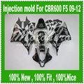 100%Fit injection Fairings for HONDA CBR600RR F5 09 10 CBR600 RR 2009 2010 CBR 600 RR 09 10 11 12 Black Silver Sevenstar body