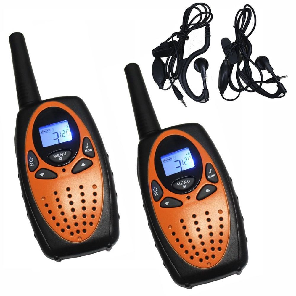2pc Orange Ts628 Pair Portable Two Way Radio Transceiver
