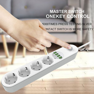Image 5 - EU Plug USB Power Strip with 3.4A Fast Charging Port Multi Russian Electric Extender Cord Socket For Smart HomeNetwork filter