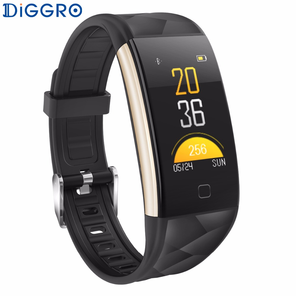 Diggro T20 Smart Wristband Heart Rate Monitor IP67 Sport Fitness Bracelet Tracker Smartband Bluetooth For Android IOS PK S2