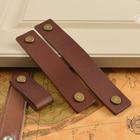 Cabinet Handles Leather Dresser Drawer Knobs Pulls Door Handle Brown Bronze /Gold /Silver Kitchen Pulls Knob